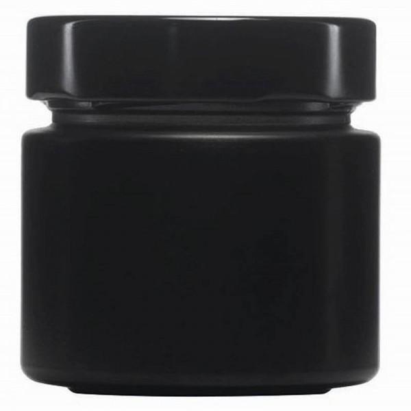 mikken ART Glasdose 125 ml schwarz