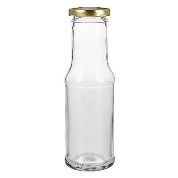 Glasflasche 200 ml für Saucen Saft Milch Smoothie Dressing mit Schraubverschluss