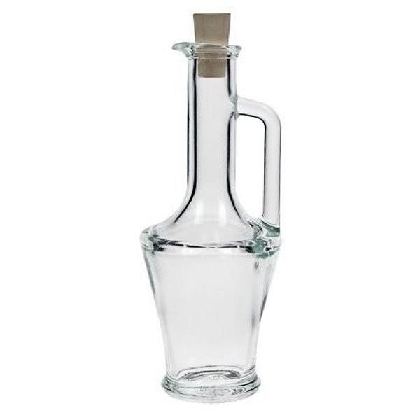 Glasflasche 50 ml mit Henkel und Korken