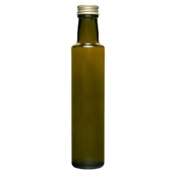 Ölflasche 250 ml Glasflasche braun mit Schraubverschluss