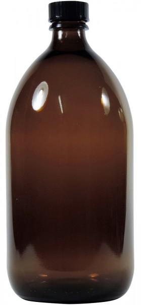 1000 ml Laborflasche Enghals Glas Braun