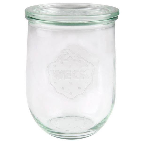 Weck Tulpenglas 1062 ml Rundrandglas mit Deckel