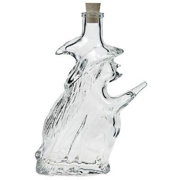 Glasflasche Hexe 200 ml mit Korken