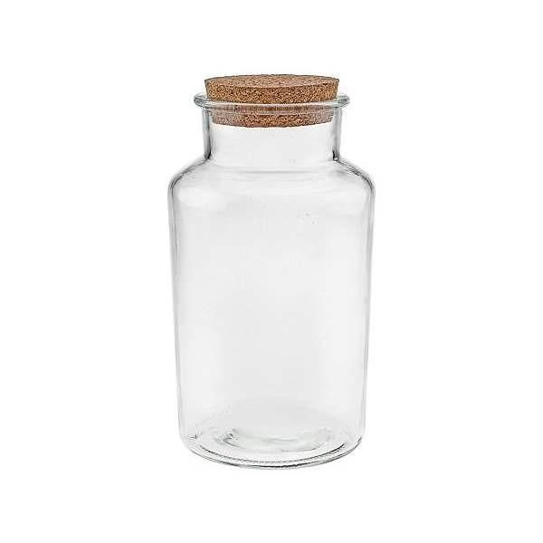 Vorratsglas 1 Liter mit Korken Glasdose mit Korkdeckel