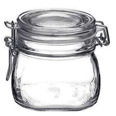 Bormioli Bügelverschlussglas 500 ml eckig