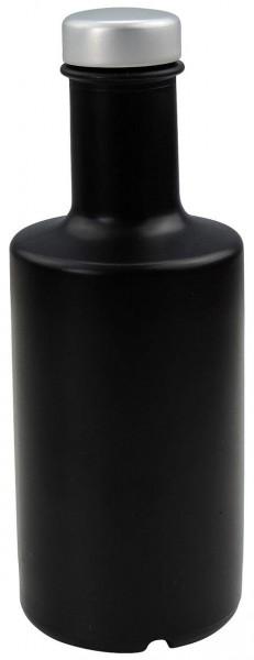Glasflasche schwarz 200 ml mit Schraubverschluss