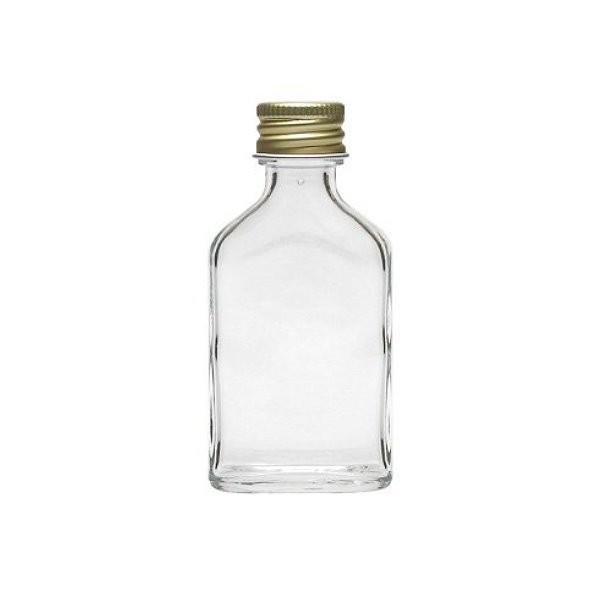 Glasflasche 20 ml Taschenflasche mit Schraubverschluss