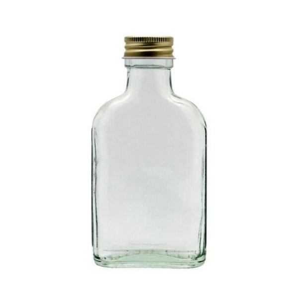 Taschenflasche 100 ml Schnapsflasche leer mit Schraubverschluss