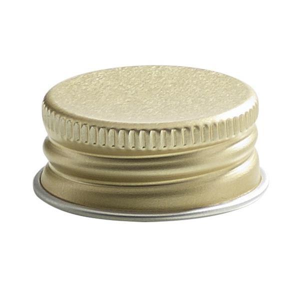 Schraubverschluss Deckel PP 28 mit Rollrand Gold Aluminium