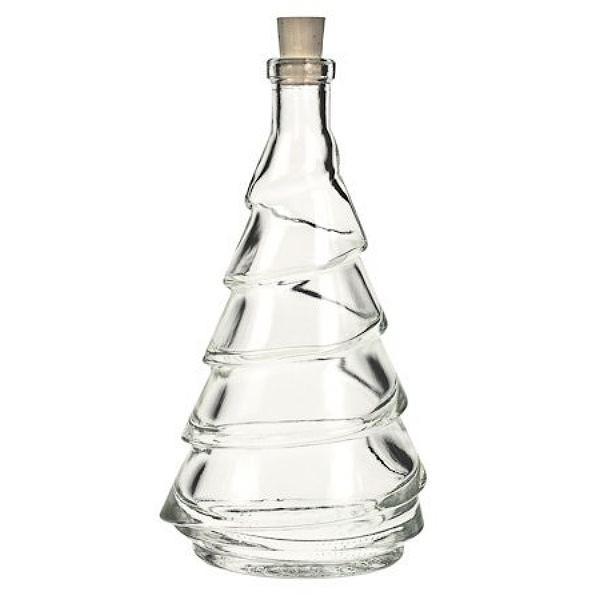 Glasflasche 200 ml Tannenbaum mit Korken