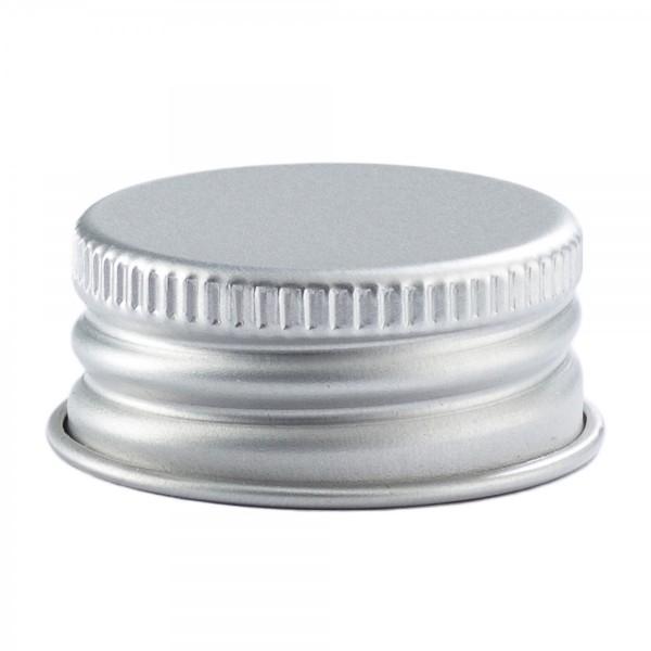 Schraubverschluss Deckel PP 28 mit Rollrand Silber Aluminium