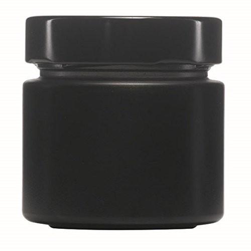 mikken 125 ml schwarze Einmachgläser mit Schraubverschluss