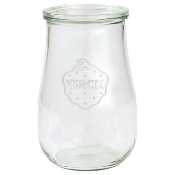 Weck Tulpenglas 1750 ml Rundrandglas mit Deckel