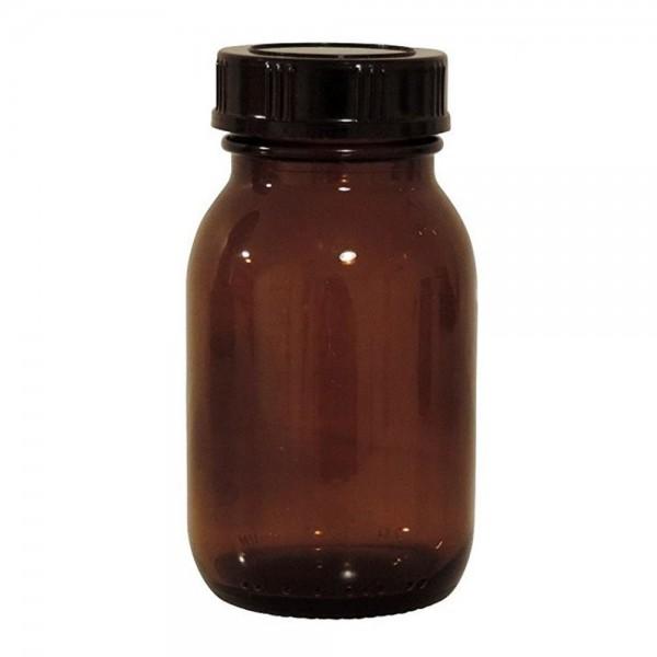 Weithalsflasche 125 ml Braunglas mit Verschluss