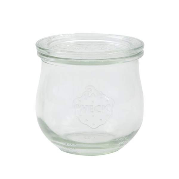 WECK Tulpenglas 370 ml Rundrandglas mit Deckel