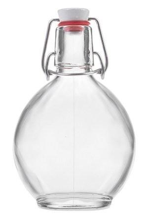 Glasflasche 200 ml mit Bügelverschluss Feldflasche