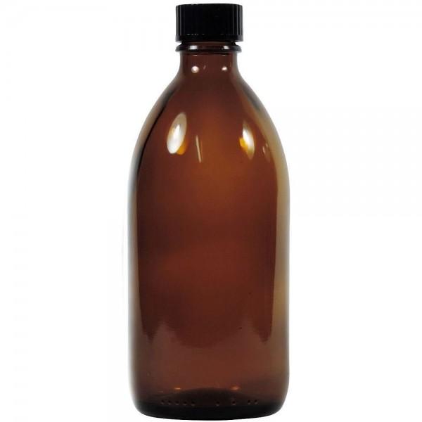 250 ml Enghalsflasche Braunglas mit Schraubverschluss