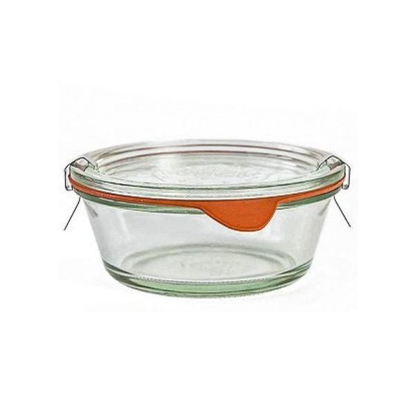 Weck Sturzglas 300 ml Gourmetglas mit Gummiring und Klammern