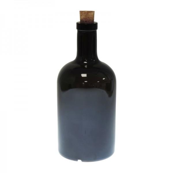 mikken Glasflasche 500 ml Grün Braun mit Korken