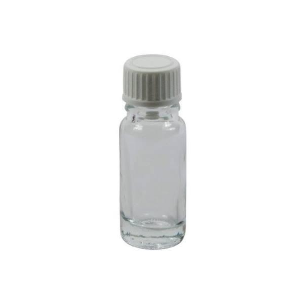 10 ml Tropfflasche Klarglas mit weißem Schraubdeckel