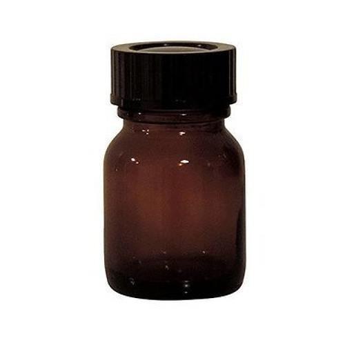 25 ml Weithalsflasche Braunglas mit Schraubverschluss