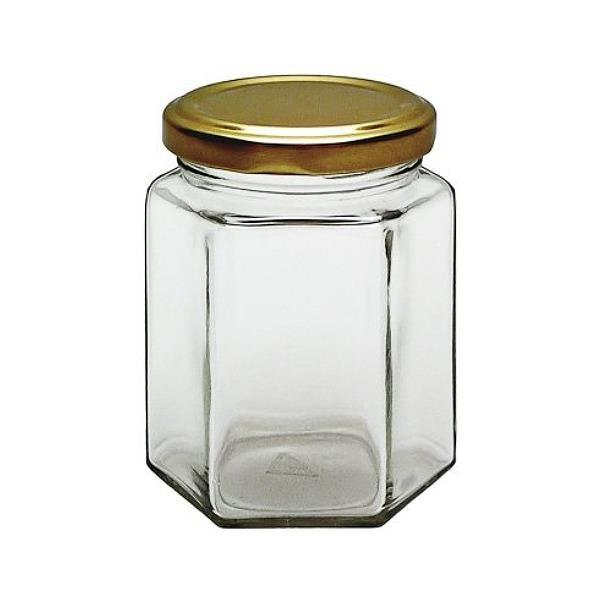 196 ml Sechseckglas Marmeladengläser mit Schraubverschluss