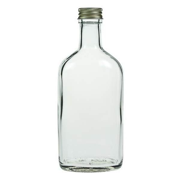 Glasflasche 350 ml mit Schraubverschluss Likörflasche Schnapsflasche Saft rund Klarglas kaufen