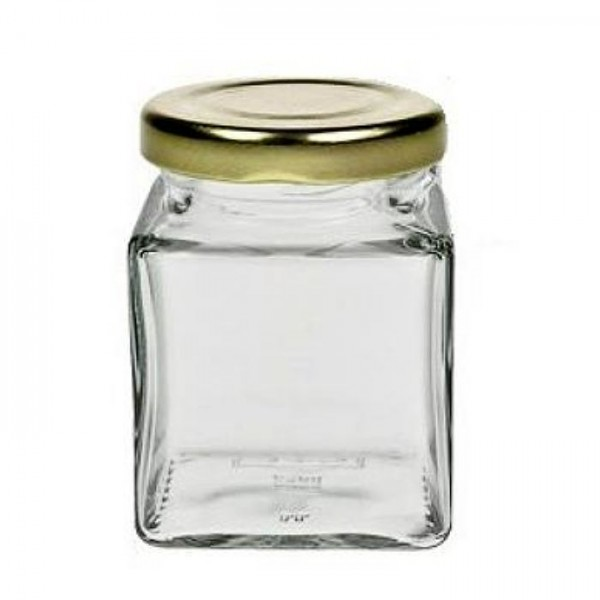 106 ml Quadratglas mit Schraubverschluss