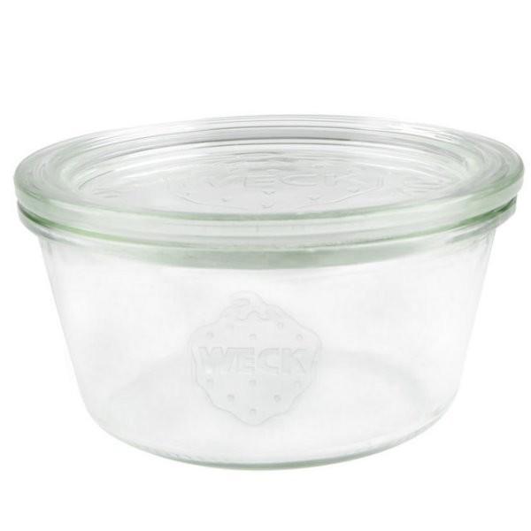 WECK Sturzglas 290 ml nieder Einmachglas mit Deckel
