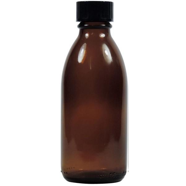 100 ml Enghalsflasche braun mit Schraubverschluss