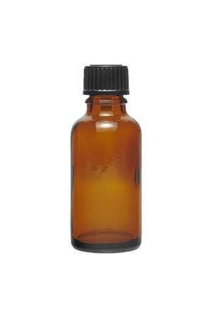 Braune Medizinflasche 30 ml mit DIN 18 Schraubverschluss