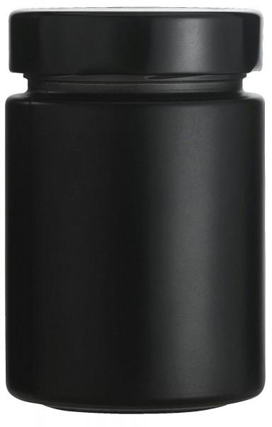 mikken schwarze Marmeladengläser Einmachgläser 190 ml