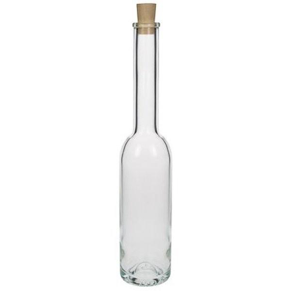 Glasflasche 350 ml schlank hoch mit Korken