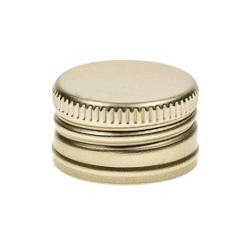 Schraubverschluss Deckel PP 24 Gold Aluminium