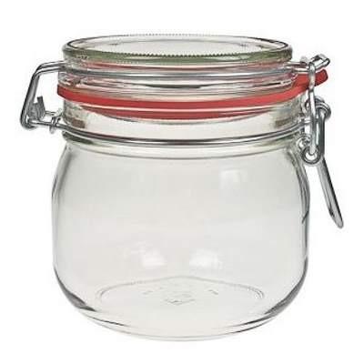 Bügelglas 634 ml Vorratsglas mit Bügelverschluss