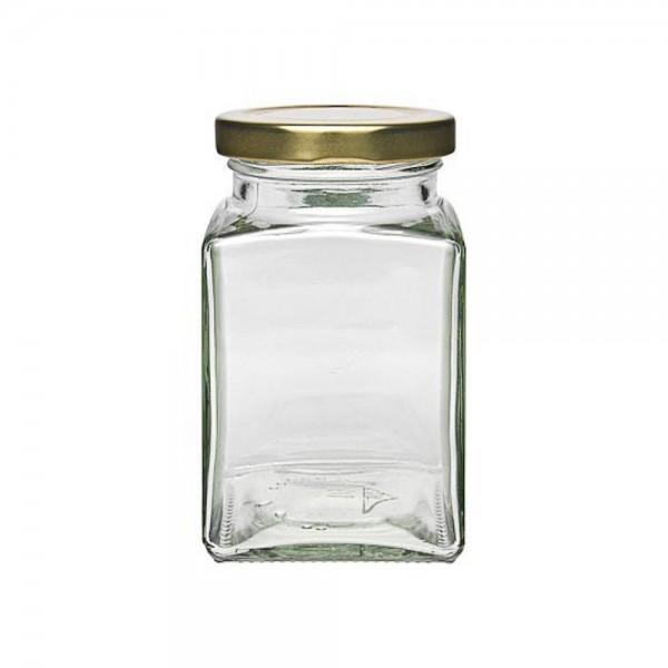 mikken 260 ml Quadratglas mit Schraubverschluss