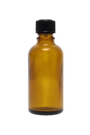 Braune Glasflasche 50 ml mit Schraubverschluss DIN 18