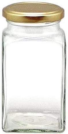 312 ml Quadratglas mit Schraubverschluss