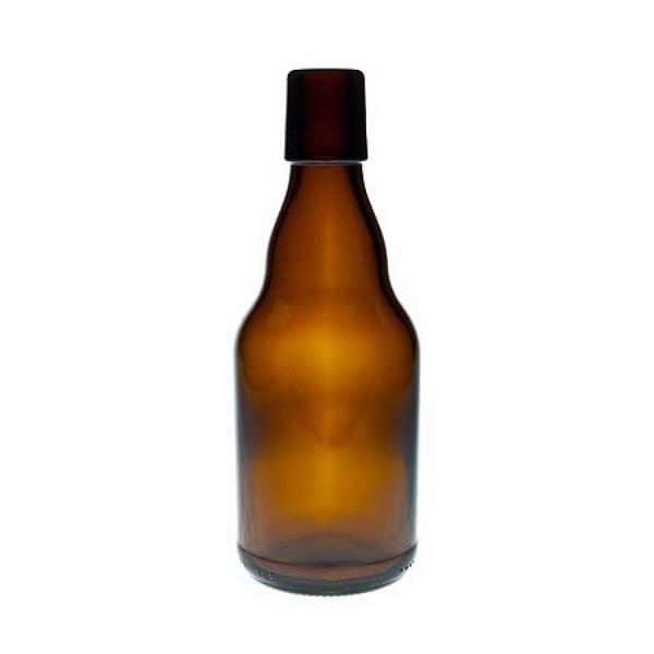 Bügelverschlussflasche braun 330 ml Glasflasche für Bügelverschluss
