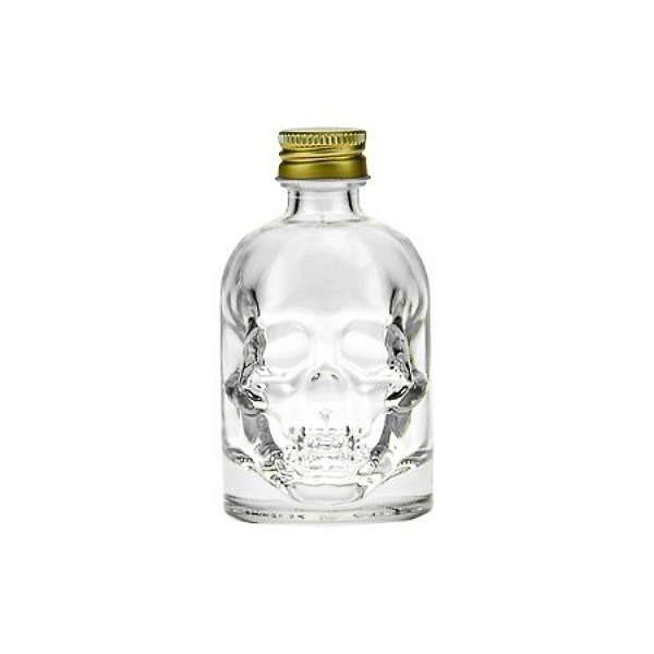 Glasflasche 50 ml Totenkopf