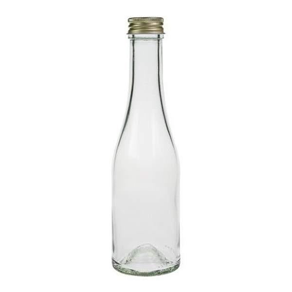 Glasflasche 200 ml Likörflasche mit Schraubverschluss