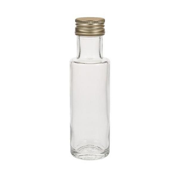 Glasflasche Likörflasche rund 100 ml gerade Form