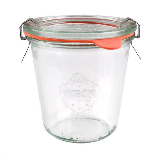 WECK Sturzglas 290 ml hoch Einmachglas mit Deckel, Gummiring und Klammern