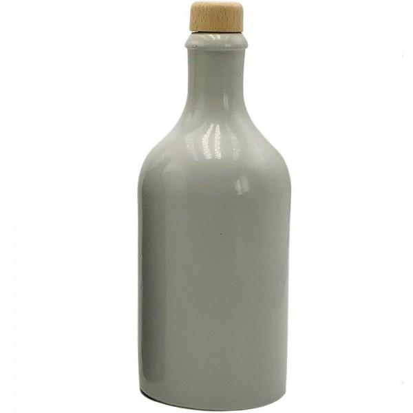 Ölflasche 500 ml Keramik weiss mit Ausgiesser