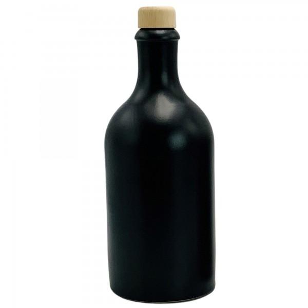 Ölflasche 500 ml schwarz mit Ausgiesser