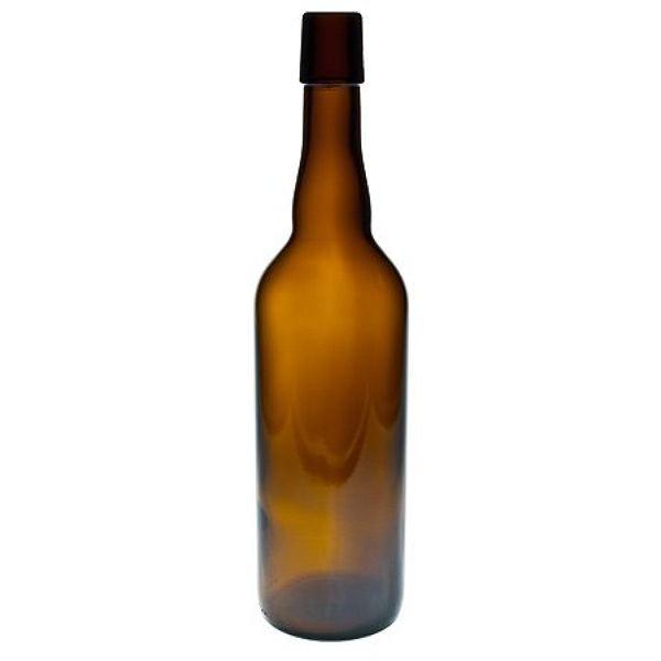 Bügelverschlussflasche braun 750 ml Glasflasche für Bügelverschluss