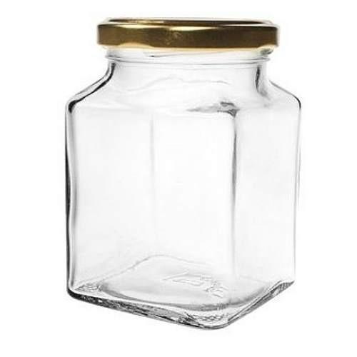 mikken 314 ml Quadratglas mit Schraubverschluss