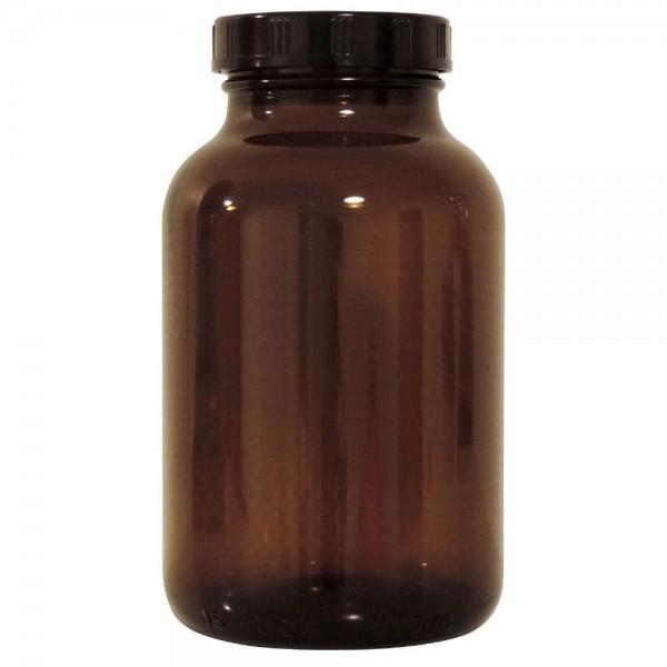 mikken Apothekerglas 1 Liter Braun mit Schraubverschluss