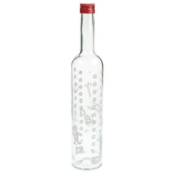 mikken Glasflasche 500 ml Adventskalender Likörflasche Weihnachten kaufen