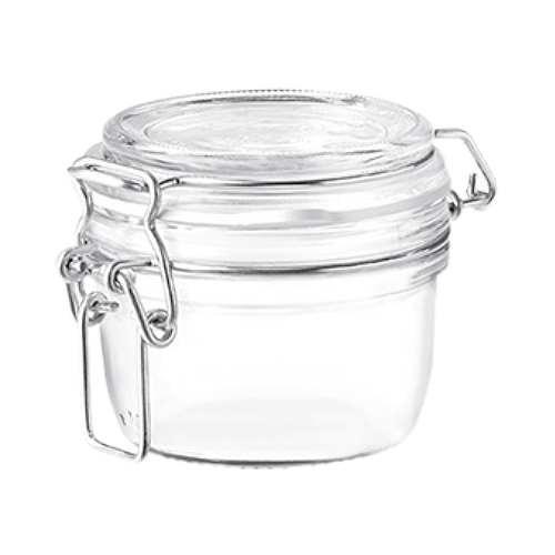 Glasdose 125 ml mit Bügelverschluss